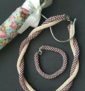 Набор :колье и браслет,бижутерия