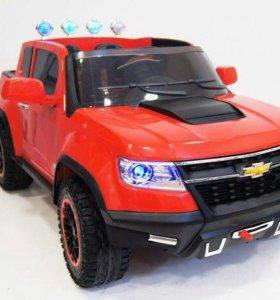 Электромобиль детский с багажником Chevrolete