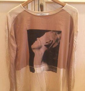 Блуза трикотажная с длинным рукавом