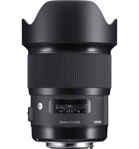 Sigma 20mm f1/4 art для canon