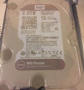 Жёсткие диски 2TB WD20PURX новые