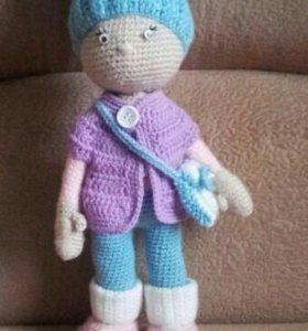 Кукла из пряжи