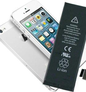 Замена аккумулятора на iPhone 4,4s 5, 5c, 5s, 6, 6