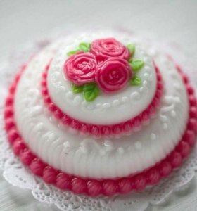 Мыло Тортик с розами