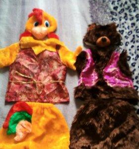 Новогодние Костюмы медведя и петушка