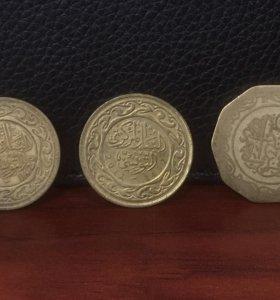 Арабские монеты 3 шт (см. описание)