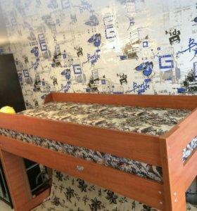 Диван-кровать 2-х уровневая