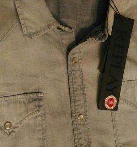 Replay джинсовая рубашка XXL