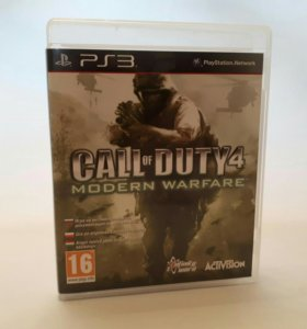 Игры для sony PS3 COD4 MODERN WARFAR