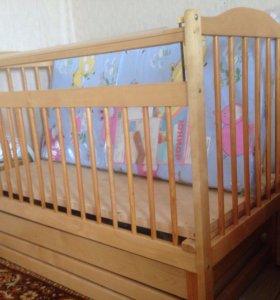 Кровать детская+матрас