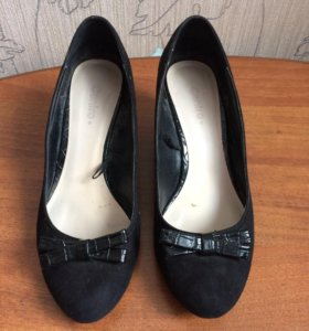 Туфли , чёрные , 38, танкетка