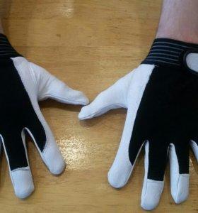 Перчатки рабочие. (Кожа/спандекс )