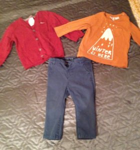 Zara (Кардиган , футболка , брюки )