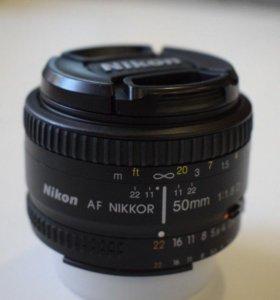 Объектив Nikon AF Nikkor 50 mm f/1.8D