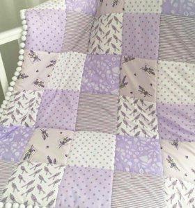 Лоскутное детское одеяло 90×180
