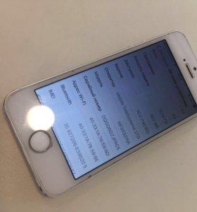 СРОЧНОiPhone 5s 16gb ВСЕ РАБОТАЕТ ОТЛИЧНО.
