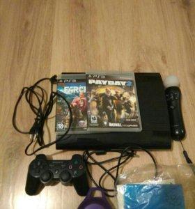 PS3 Super slim 500 гб + PSP
