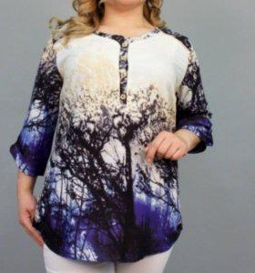 Блузка штапель новая