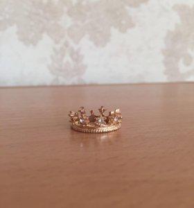 Кольцо корона бижутерия