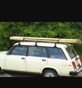 Перевозка груза на крыше авто.