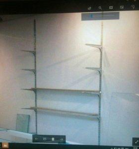 стеклянные полки для магазина( стекло каленое )