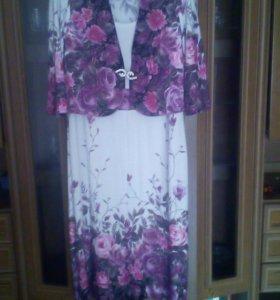 Платье с коротким жакетом 50-52-54р.новое