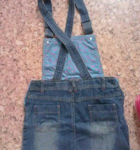 Комбез джинсовый новый