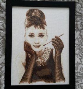 "Картина ""Одри Хепберн"""