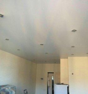 Потолок ПВХ с точечным освещением