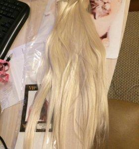 Волосы на заколках 60 см