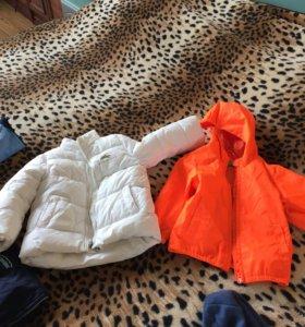 Куртки, тёплая белая, ветровка