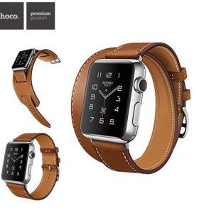 Набор кожаных ремешков Hoco для Apple Watch 42mm