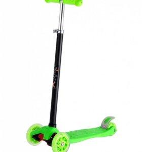 Самокат 3-х колесный Ridex Spark зеленый