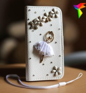 Книжка-чехол на iPhone 5/5S, балерина