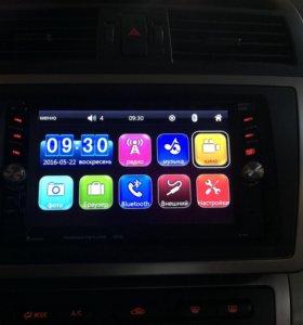2din магнитола и переходная рамка на Mazda 6 gh