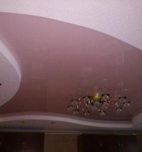Натяжные потолки - без шва