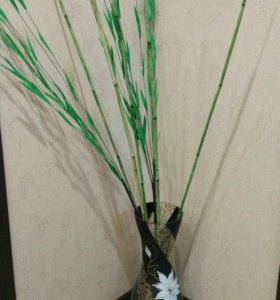 Ваза декоративная и бамбук торг
