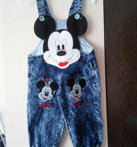 Комбинезончики джинсовые новые