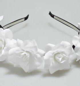 Ободок с цветами ( Розы )