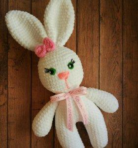 Игрушка заяц плюшевый ручной работы.