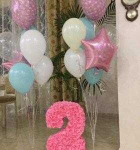 Цифра 2 для дня рождения