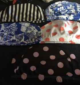 Новые тканевые шапочки для бассейна