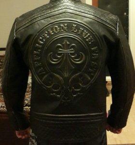 Нов.кожаная куртка Affliction xl