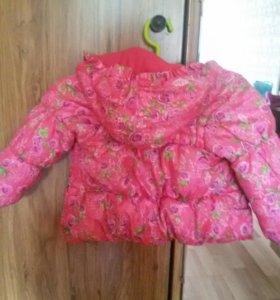 Зимняя куртка для девочки от 1,5 до 3 лет