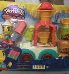 Play-doh, город фургон мороженого