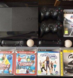 Игровая приставка Sony PlayStation 3, мувы, игры
