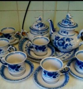 Сервиз Гжель чайный с подносом