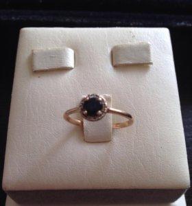 Кольцо с сапфиром, золото 585 проба