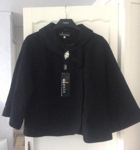 Шерстяное полупальто/куртка 75%шерсть,новая. 👌🏼