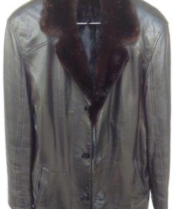 Кожаная куртка с меховой подкладкой